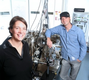 Michelle Simmons and Bent Weber from UNSW