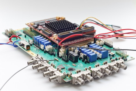 UWB: test board with IR-UWB chip developed by imec and Holst Centre