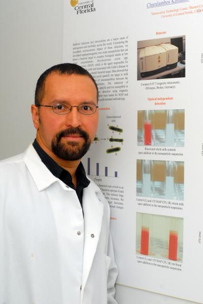 Dr. Perez works on nanotechnology at the University of Central Florida in Orlando.