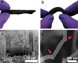 "A carbon nanotube sponge developed with help from ORNL researchers holds potential as an aid for oil spill cleanup. Simulations at ORNL explained how the addition of boron atoms encouraged the formation of so-called ""elbow"" junctions that help the nanotubes grow into a 3-D network."