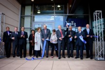 UB held a ribbon-cutting ceremony May 10 to officially dedicated its new Barbara and Jack Davis Hall, a $75 million environmentally friendly engineering research facility.