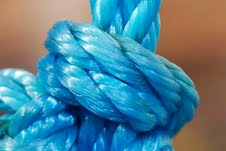 Nylon - an extremely versatile synthetic thermoplastic used widely to manufacture nylon fibres, such as rope.