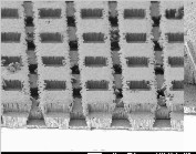 Ga: ZnO films on a glass panel with the inventors and scanning electron images of 3D transparent conducting electrodes