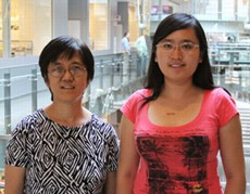 ASU associate professor Yung Chang (l) and graduate student Xiaowei Liu were part of a multidisciplinary Biodesign team developing synthetic vaccines using DNA nanotechnology. Other members of the research team included: Hao Yan, Yan Liu, Craig Clifford, Yang Xu and Tao Yu.