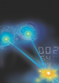 New research identifies quantum discord as a resource that can be tapped to extract information with the right quantum tools. This is an artist�s illustration of the �unlocking� of discord. (Photo credit: Timothy Yeo / CQT, National University of Singapore)
