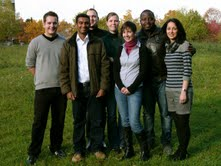 The Nanobioengineering group (left to right): Karsten Theophel, Santosh K. Sandhi, Michael Bunge, Lara Neumann, Veronika Schacht, Victor Cheunuie-Ambe and Nassim Sahragard.