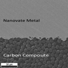 Figure  - fully dense Nanovate metal on a carbon composite part