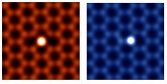 The atomic resolution Z-contrast images show individual silicon atoms bonded differently in graphene.