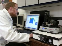 Dr Jonathan Moffat uses the Anasys nano-TA system at UEA