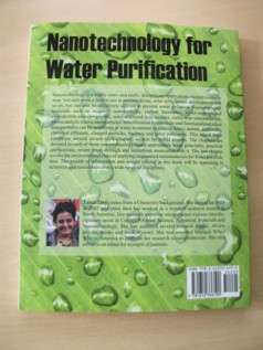 Dr. Tania Dey, the author of the book titled �Nanotechnology for Water