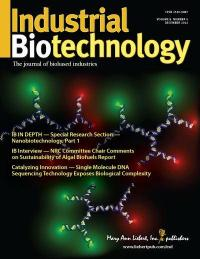 Industrial Biotechnology is published six times a year in print and online. Visit www.liebertpub.com/ind for more information.