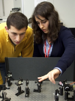PhD students Giuliana Di Martino and Yan Francescato