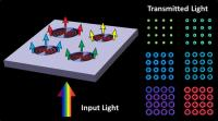 "Boston College researchers have constructed a unique nanostructure that exploits microcavity features to filter visible light into ""plasmonic halos"" of selected color output. The device could have applications in areas such as biomedical plasmonics or discrete optical filtering.