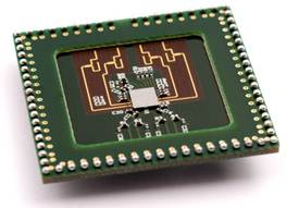 Imec�s low-power multi-Gbit 60GHz wireless module integrating a 40nm low-power chip with a 4-antenna array