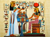 The blue pigment used in ancient Egyptian artwork may foster development of new materials for TV remote controls, security inks and other modern technology.