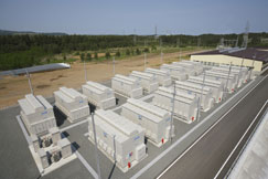 NAS Batteries which store large scale energy