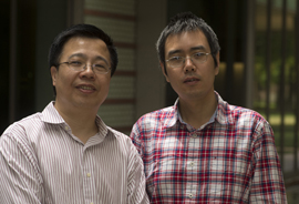 Rice University physicists Qimiao Si (left) and Rong Yu.