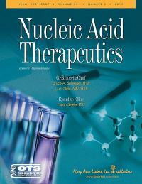Nucleic Acid Therapeutics is published in print and online six times per year. For more information visit www.liebertpub.com/nat.