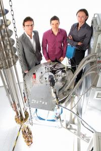 This is, from left: Scientia Professor Andrew Dzurak, Ph.D. Student Jarryd Pla (lead experimental author) and Associate Professor Andrea Morello, University of New South Wales. All three are engineers in the School of Electrical Engineering and Telecommunications at the University of New South Wales in Sydney, Australia.