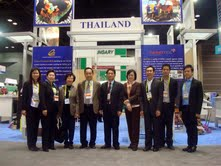 Thailand team in front of BOI and NANOTEC exhibition at BIO 2013