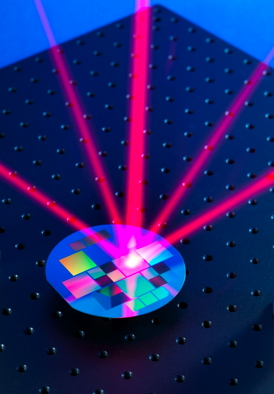 A microfabricated grating transforms a single incoming laser beam into a light field specially tailored for trapping and cooling atoms