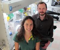 Doctoral student Leticia A. Montoya and Michael Pluth, professor of chemistry, of the University of Oregon have developed a sensitive probe that detects H2S in biological samples and in the environment.