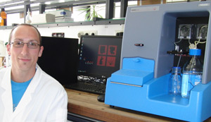 Daniel Moldenhauer uses the new NS500+DLS in the Groehn group at the University of Erlangen-N�rmberg.