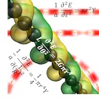 Rice University researchers have determined from first-principle calculations that carbyne would be the strongest material yet discovered. The carbon-atom chains would be difficult to make but would be twice as strong as two-dimensional graphene sheets.Credit: Vasilii Artyukhov/Rice University