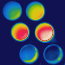 A new coating intrinsically conceals its own temperature to thermal cameras. Image courtesy of Mikhail Kats.