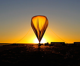 Scientific balloon launched from New Mexico in September 2013 carrying an experimental instrument designed to collect and measure the energy of light emitted by the Sun, with the help of NIST chips coated with carbon nanotubes.