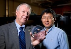 Rice University scientists Ned Thomas (left), dean of the George R. Brown School of Engineering, and Jae-Hwang Lee are the primary authors of a new review of photonic, phononic and phoXonics research in the journal Advanced Materials.Credit: Tommy LaVergne/Rice University