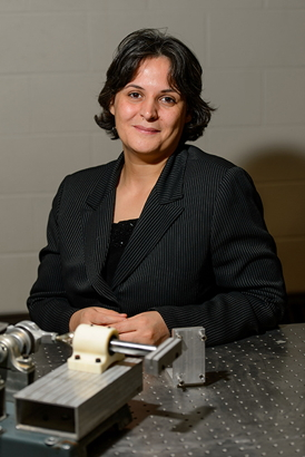 Leila Ladani, associate professor of mechanical engineering, joins UConn from the University of Alabama, where she worked with NASA�s Flight Center in Huntsville.Peter Morenus/UConn Photo