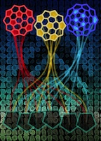 Carbon nanotube caps are forced into shape by six pentagons among the array of hexagons in the single-atom-thick tube. Rice University researchers took a census of thousands of possible caps and found the energies dedicated to their formation have no bearing on the tube's ultimate chirality.Credit: Evgeni Penev/Rice University