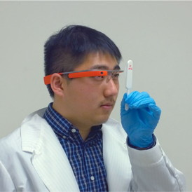 A custom Google Glass app reported in ACS Nano could help prevent the spread of disease around the world.