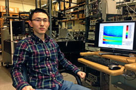 UC student Yuda Wang will present his semiconductor nanowire research at the American Physical Society meeting.