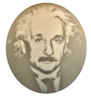 In previous research, Rice synthetic biologist Jeff Tabor and colleagues created colonies of light-sensitive bacteria that exhibited complex patterns when exposed to images, like this portrait of Albert Einstein. In a new study, Tabor and colleagues realized that light could be used to create time-varying gene-expression signals that rise and fall, similar to those used in electronic engineering. Credit: Matt Good and Jeff Tabor