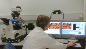 Student Thomas McCoy of the user group of JPK�s NanoWizard system at Monash University