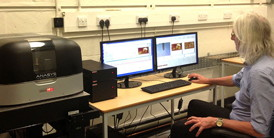 Dr John Walton using the Anasys AFM-IR at the University of Manchester.
