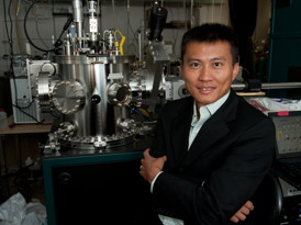 Yi Cui, Stanford professor of materials science and engineering, and his team are designing a pure lithium anode for rechargeable batteries.