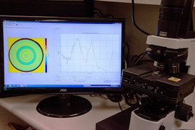 The Phasefocus Optical Profiling system in use at Brien Holden Vision Institute, Sydney, Australia.