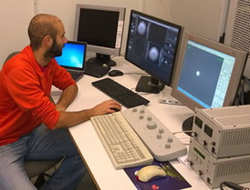 Dr Ruggero Verre processes data from his DELMIC SPARC system to 