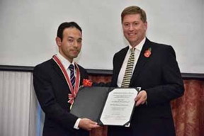 Dr Michihisa Yamamoto awarded the Sir Martin Wood Prize