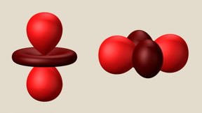 These balloon-and-disc shapes represent an electron orbital -- a fuzzy electron cloud around an atom's nucleus -- in two different orientations. Scientists hope to someday use variations in the orientations of orbitals as the 0s and 1s needed to make computations and store information in computer memories, a system known as orbitronics. A SLAC study shows it's possible to separate these orbital orientations from electron spin patterns, a key step for independently controlling them in a class of materials that's the cornerstone of modern information technology.