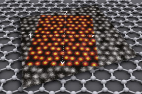 Indium oxide on a graphene layer
