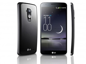 The LG G Flex curved smart phone